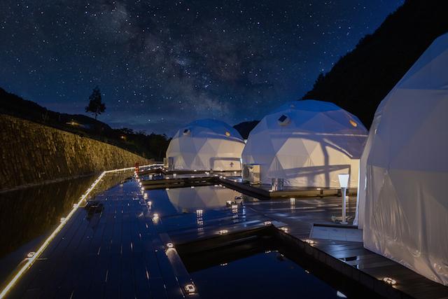 大阪府初のドーム型テントに宿泊!「FOREST GLAMPING-牛滝温泉 四季まつり」 画像1
