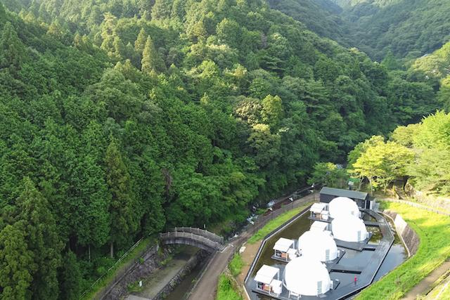 大阪府初のドーム型テントに宿泊!「FOREST GLAMPING-牛滝温泉 四季まつり」 画像2