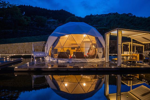 大阪府初のドーム型テントに宿泊!「FOREST GLAMPING-牛滝温泉 四季まつり」 画像4