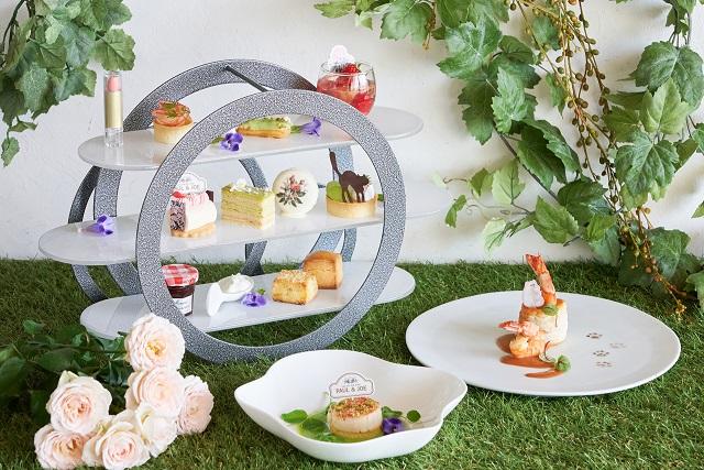 お菓子と紅茶で優雅に。ポール&ジョーのコラボカフェがオープン【ヒルトン東京お台場】 画像1