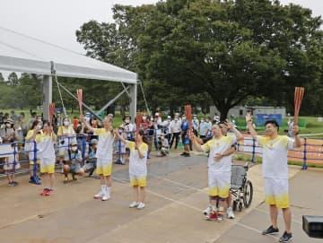 東京パラ、聖火リレーがゴール 全国結集の炎、開会式へ 画像1