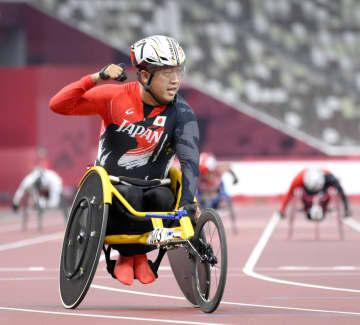 パラ陸上、佐藤友祈が金メダル 車いすの男子400m 画像1