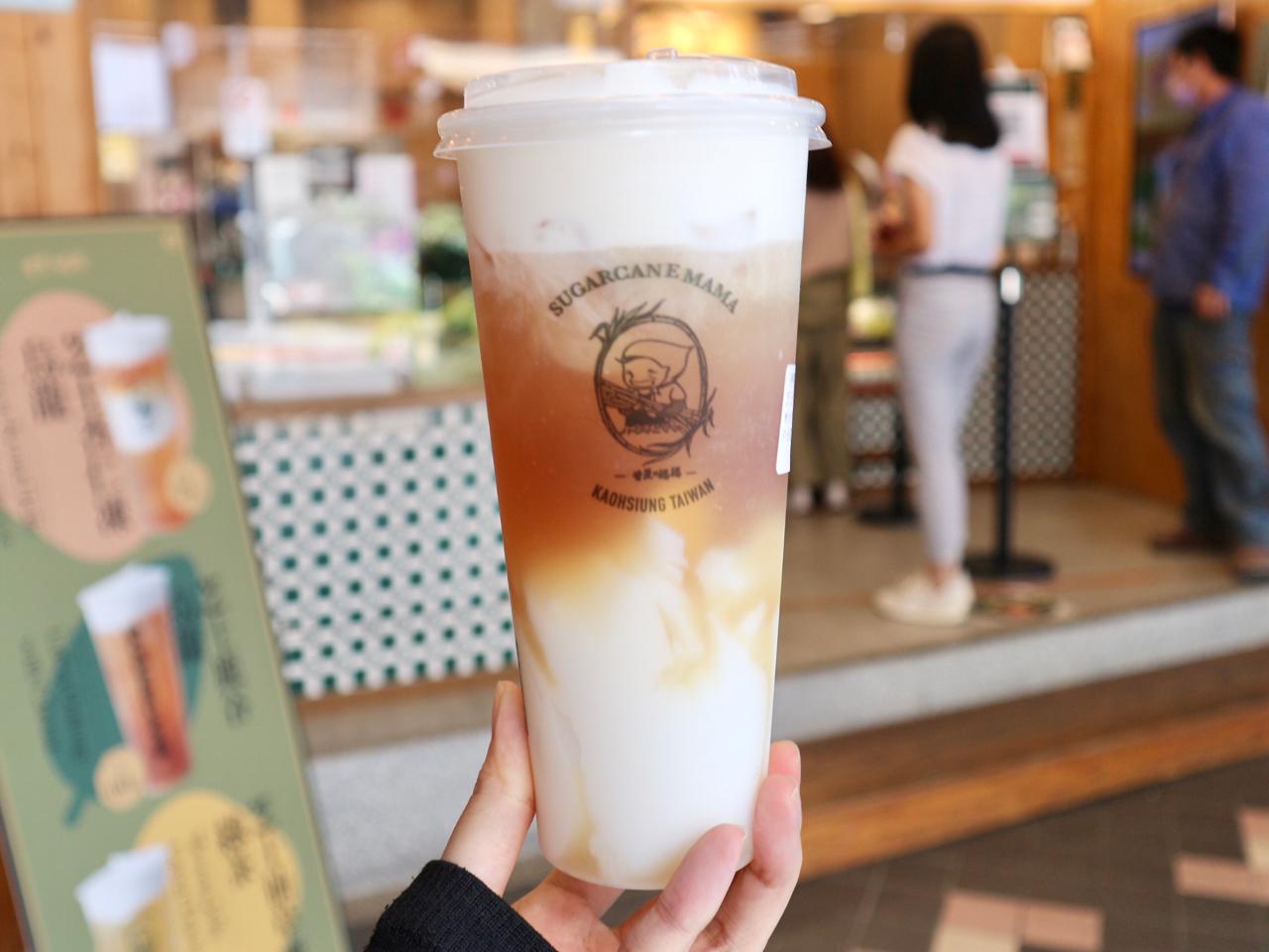 【台湾】「チーズ杏仁豆腐烏龍茶」がおすすめ!サトウキビドリンク店「甘蔗の媽媽」 画像5