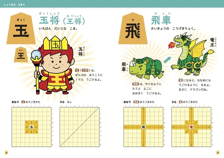 玉将を男の子に、他の駒は動物や幻獣になぞらえてキャラクター化