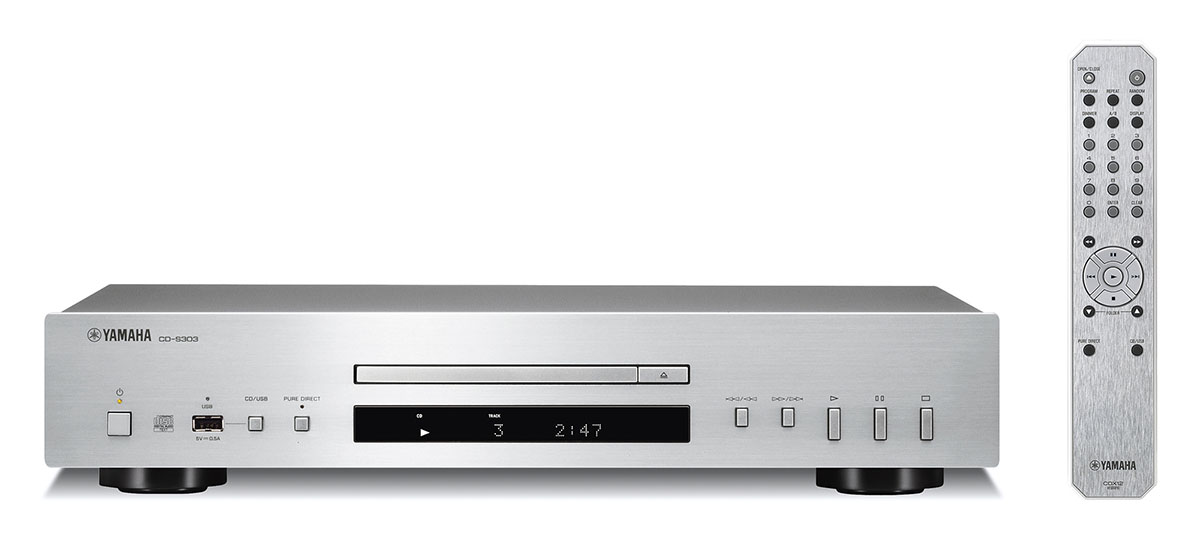 ヤマハ CDプレーヤー 『CD-S303』 カラー:(S)シルバー 希望小売価格47,300円(税抜 43,000円)