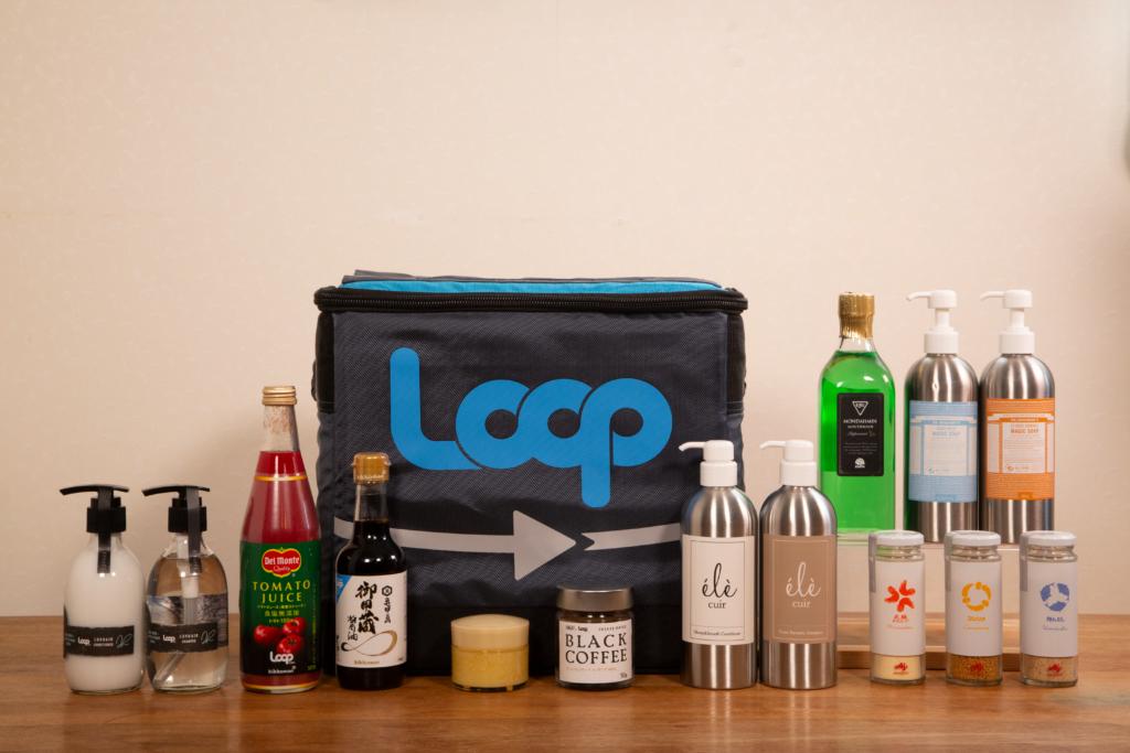 LoopECサイトの商品と専用ボックス。