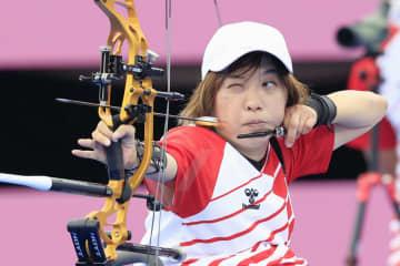 岡崎愛子は準々決勝で敗退 アーチェリー・1日 画像1