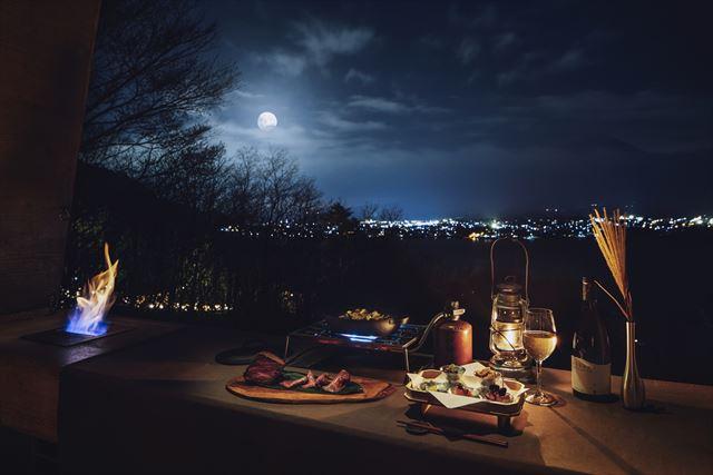 【星のや富士】ワインと秋の味覚を堪能!半月~満月限定の河口湖絶景ディナー 画像1