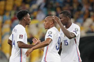 W杯欧州予選、仏は引き分ける ウクライナと1―1 画像1