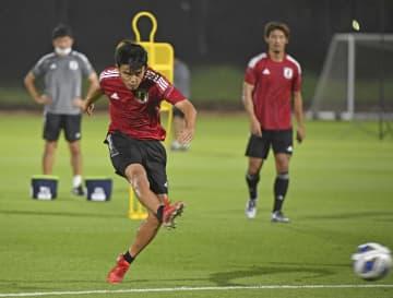 中国戦へ、ドーハで初練習 サッカーW杯最終予選第2戦 画像1