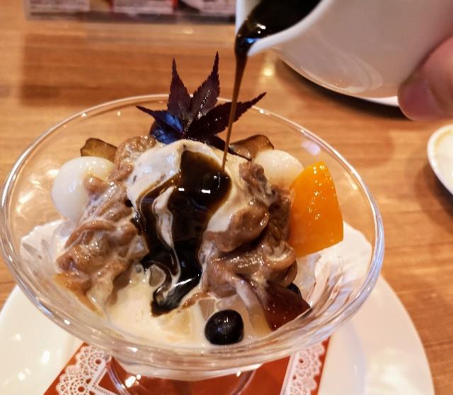 【ロイヤルホスト】秋を楽しむ「渋皮栗とほうじ茶」のデザートが登場!「モンブランパフェ」&「クリームみつまめ」実食ルポ 画像13