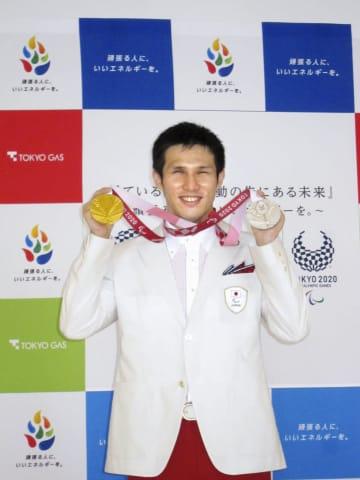 競泳木村「大会、ただ良かった」 東京パラ、金メダル報告会 画像1