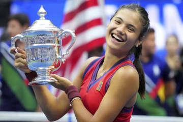ラドゥカヌが新女王、全米テニス 18歳、予選突破者で史上初 画像1