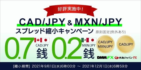 DMM.com証券がFX取引でキャンペーン開催 カナダドル円、メキシコペソ円のスプレッド縮小 画像1