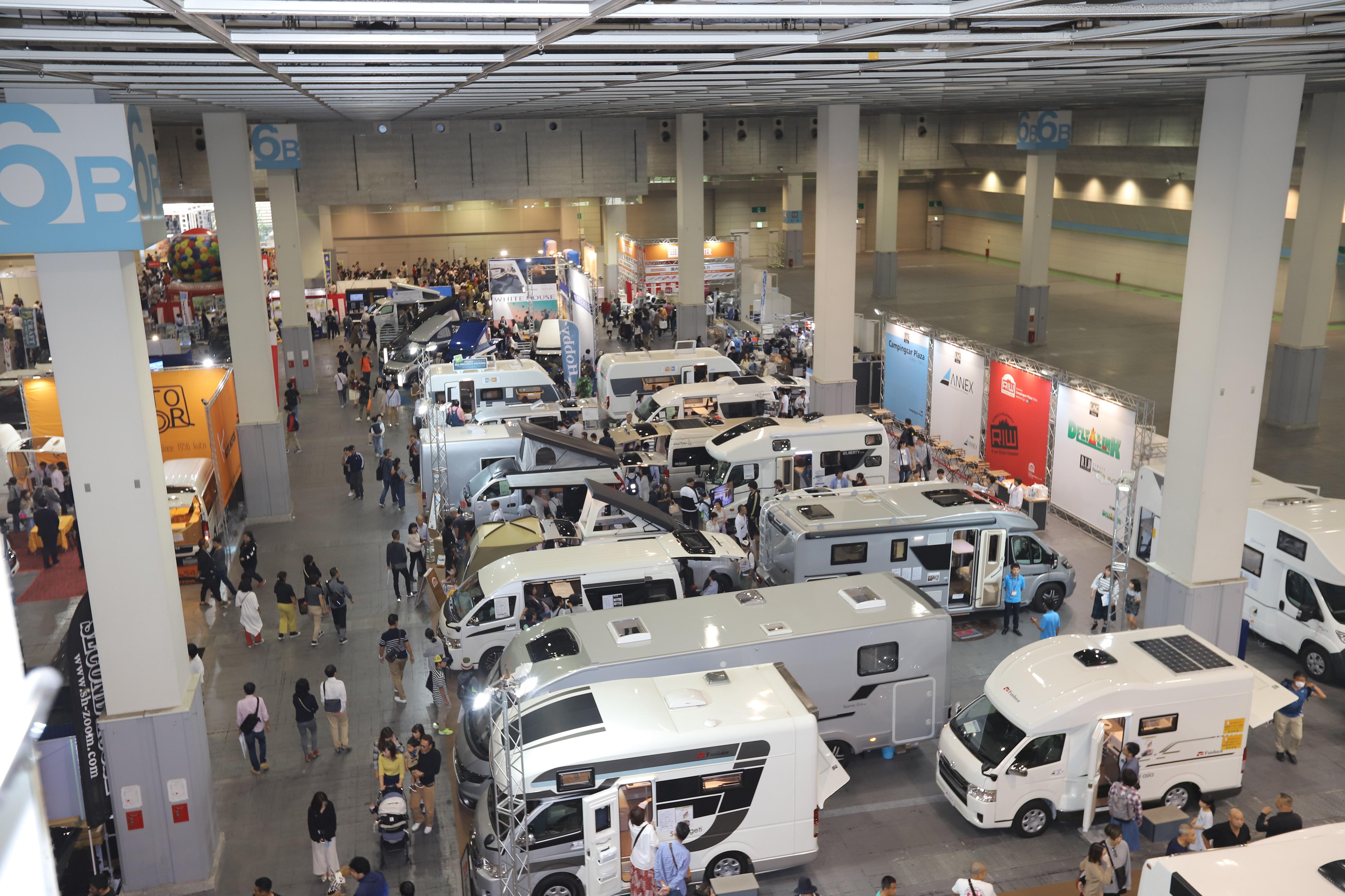 9月25、26日「大阪キャンピングカーフェア 2021」開催 インテックス大阪に約150台集結 画像1