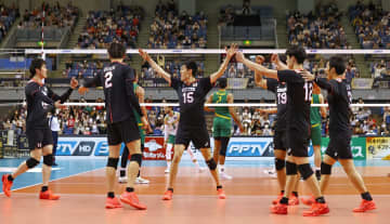 バレー、日本が豪下し準決勝へ 男子アジア選手権 画像1