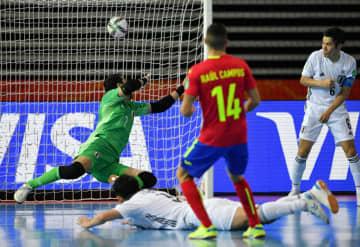 フットサルW杯、日本1勝1敗に スペインに2―4で敗れ 画像1