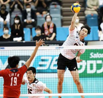 バレー、日本は台湾下し決勝へ 男子アジア選手権 画像1
