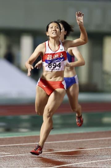 児玉芽生が女子100m連覇 日本学生対校陸上第2日 画像1