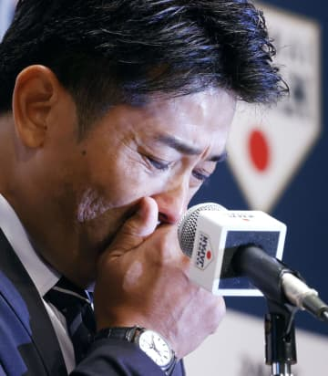 稲葉篤紀監督「最高の結果」 野球で東京五輪金、退任会見で涙 画像1