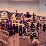 旧諸侯江戸入行列之図 安達吟光画 1889年(明治22) 江戸東京博物館 所蔵 展示期間:10月26日(火)~12月5日(日)
