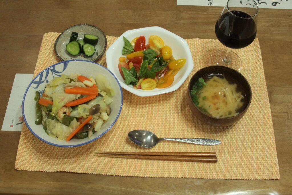 私が作った夕食