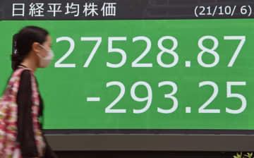 東証、12年ぶり8日続落 原油高、新政権低支持率で売り 画像1