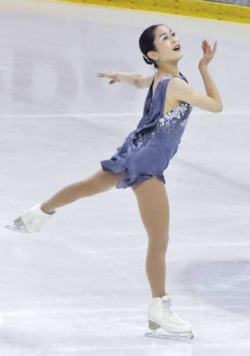 宮原知子、女子SPで首位 フィギュア東京選手権 画像1