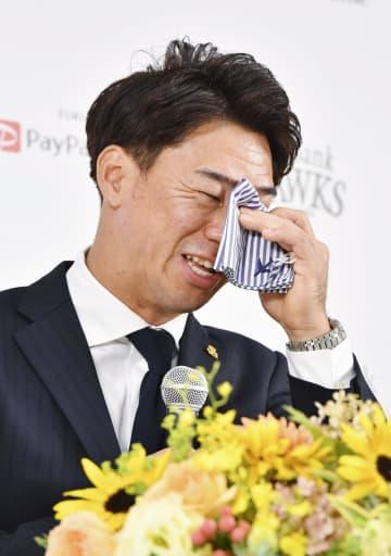 ソフトバンク長谷川が引退会見 「悔いなくユニホームを脱ぐ」 画像1