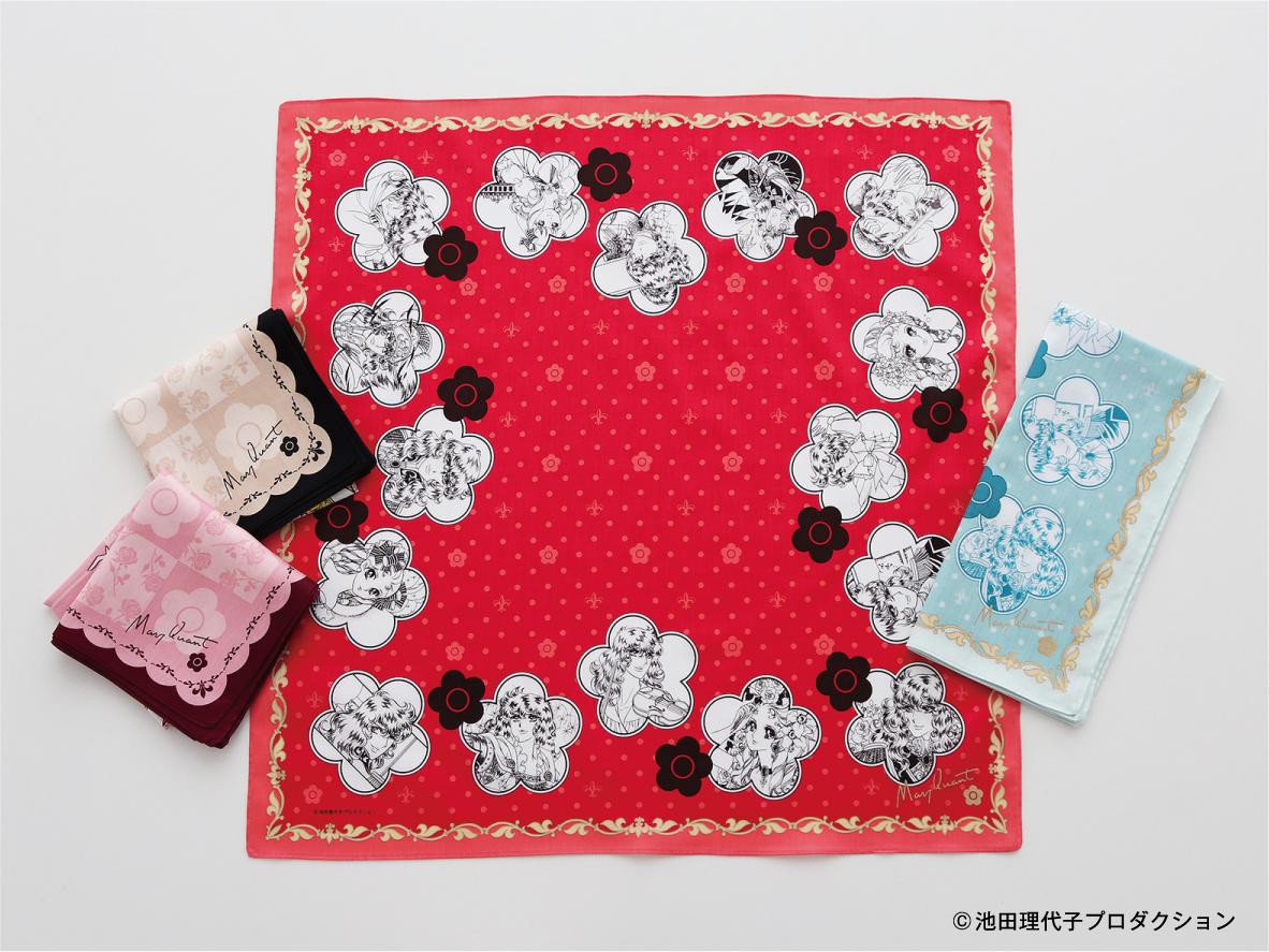 プリントハンカチ ¥880(本体価格¥800) サイズ:50㎝×50cm 品質:綿100%